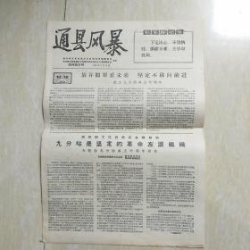 文革报纸:通县风暴增刊第三号1967年6月10日