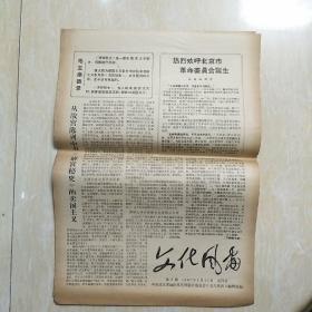 文革小报: 文化风雷 第6期1967年4月30日共四版