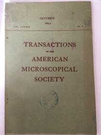 transactions of the American microscopical scociety(美国微生物学会论文集)