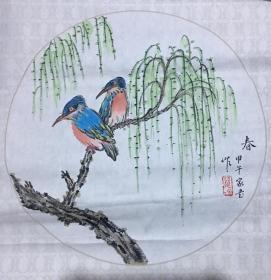 赵家书国画春一幅 50X50