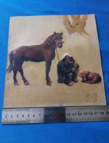顾国建油画:老人与马