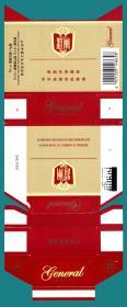 卡纸烟标-山东中烟公司 将军烟卡纸拆包标   3枚