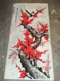 国家一级美术师书画国礼艺术家张利国画: 喜上枝头