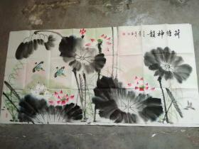 国家一级美术师书画国礼艺术家张利国画:荷塘神韻