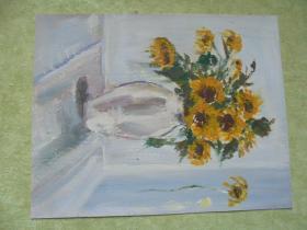 名家手绘油画《花影》