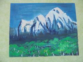 名家手绘油画《阳春白雪》