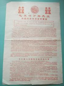 毛主席萬壽無疆   林彪同志身體非常健康--文革宣傳大字報彩印