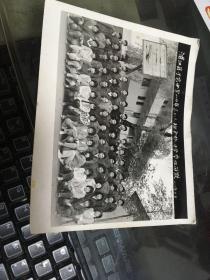 老照片:浦江县于宅中学89年高二(1)班全体同学毕业留影
