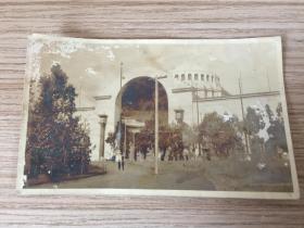 1914年日本《博覽會內教育館》照片一枚