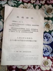 文革资料: 长沙市革命委员关于认真搞好斗批改的初步规划(草案)