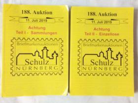 SCHULZ  — BRIEFMARKEN—  AUKTION·11· JULI    2019    (外国邮票图录)