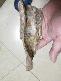 天然木化石 重量:  322  克    稀有奇石木化石,天然纹路,每块都是独一无二的摆件,尺寸重量看图