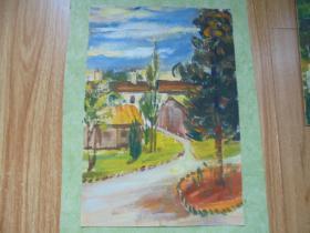 名家手绘油画《夏日》
