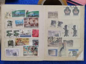 新中国时期,文革时期以及八十年代邮票近200张,部分是盖消票,部分新票,一本合售。