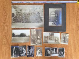民國日本各類人物照片13枚合售,尺寸各異