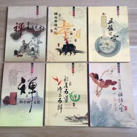 禅与中国文化、与心对话·禅悟人生、禅与生活艺术、禅与孝道文化、如何照见五蕴皆空、般若为导·净土为归(6本合售)