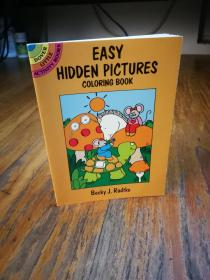 EASY HIDDEN PICTURES COLORING BOOK BY BECKY RADTKE