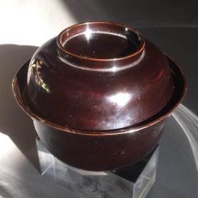 日本漆器盖碗