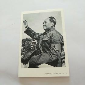 毛主席像。戴红卫兵袖章。