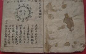 【复印件】手抄风水地理书 二十四山吉凶断法 古籍无删减 线装古书件