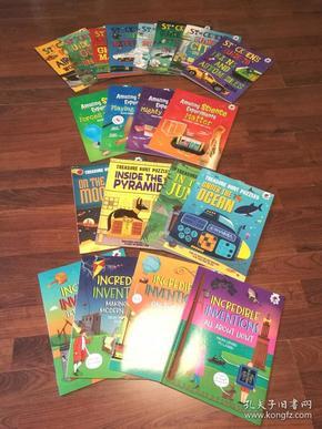 正版 英文原版少儿科学实验/科学游戏/探索探索 全彩套装 全套20册 Stickmens Guide/Amazing Science Experiments/Incredible Inventions/Treasure Hunt Puzzles (童书)英文原版书