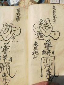 【复印件】手抄结手印手势 日月掌 铁铳开城门 玄天五雷剑 神前请咒 八卦咒