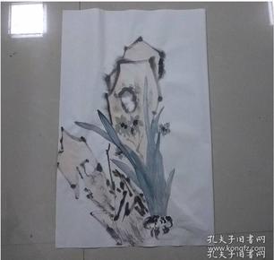 043003名家手繪精品:  水仙石頭圖