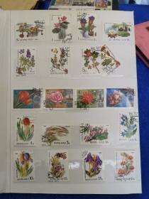 五十年代至九十年代 外国邮票近三百张。各种类型的邮票,收藏佳品。一册合售。
