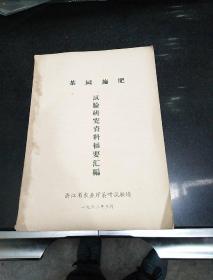 茶园施肥 试验研究资料摘要汇编 》1962年;浙江省农业厅茶叶试验场