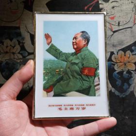 文革毛主席像章毛主席瓷板画像文革精品红色文化收藏古董瓷器