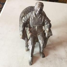 邓小平坐铜像 重7.7斤高19x14后有外文字请以图为准