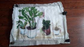 布面油画一大幅:绿色植物 长100厘米*70厘米【油画4】