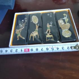 徽墨老胡开文制杂技图古法一两30克,4条一套120克。