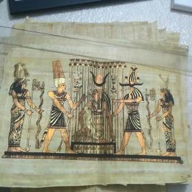 埃及纸草画 (王后像)