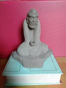 达摩人物/达摩坐禅造型/禅意境·紫砂雕像摆件【疑为紫砂但不确定 长宽高15cmx10cmx19cm】
