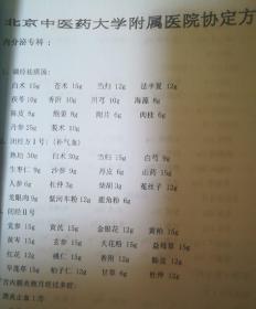北京中医药大学附属医院协定方……复印件