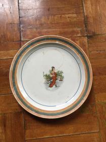 旧陶瓷茶盘果盘一个