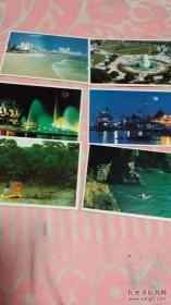 北海风光明信片,八张,