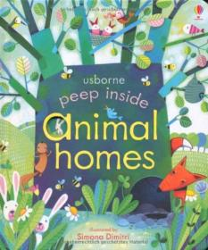 Peep Inside Animal Homes  Board book