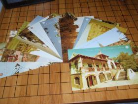 明信片:青岛老楼(13张全)背面空白 L9
