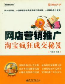 网店营销推广 淘宝疯狂成交秘笈 韦朝忠著 电子工业出版社