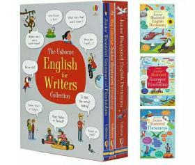 正版 儿童全彩图解写作词典(同义词/语法/标点) 英文原版正版盒装 每套3册 Usborne English For Writers (童书)英文原版书