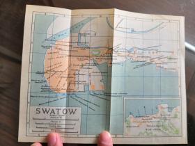 少见 《汕头老地图》(Swatow)尺寸19.5X15.5厘米