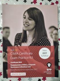 正版 CIMA BA4 Fundamentals of Ethics,Corporate Governance&Business Law (Exam Practice Kit) UPDATED EDITION For exams from 2017 BPP LEARNING MEDIA 9781509711697