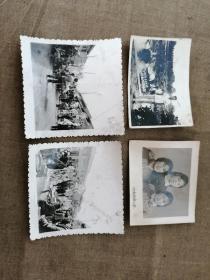 1958年,济南大明湖留念,照片一张(照片共四张)