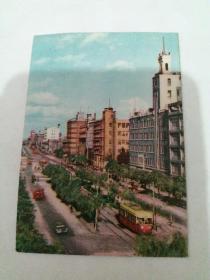 明信片、(1964年旅大市、大连青泥洼桥街景)
