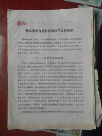 (河南省)林县供销合作社体制改革宣传提纲