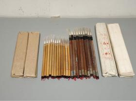 老供销社库存毛笔,纯 羊毫毛笔有大楷白云、大白云、小白云,文人专用毛笔!十支一包!
