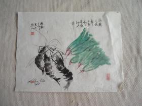 国画大虾画