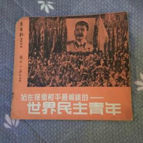 解放初期黑白画删()站在保卫和平最前线的世界民主青年印数五千册